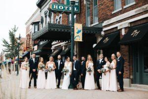 Bridal party front entrance